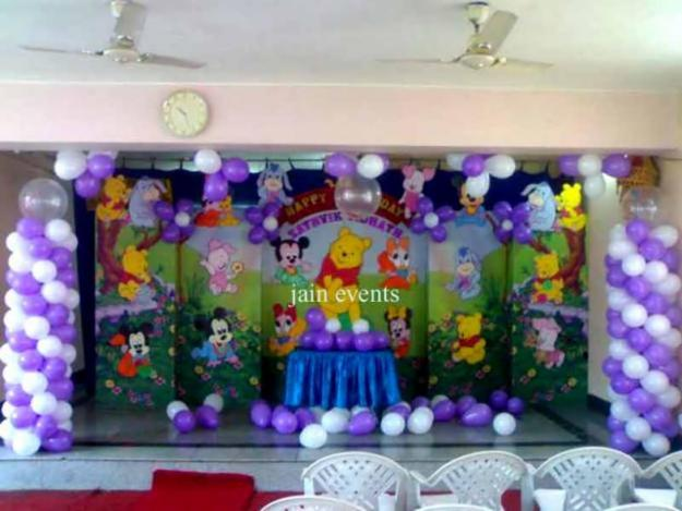 Badut ulang tahun dekorasi backdrop dan 3d for Dekor ulang tahun