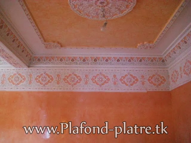Super d coration plafond sculpt 2013 for Platre traditionnel marocain