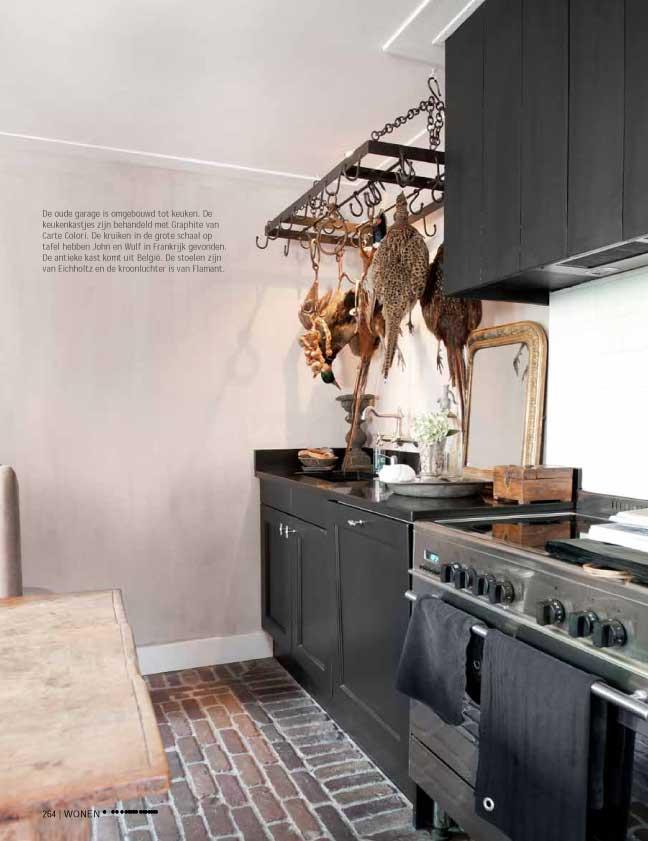Keuken Fineer Laat Los : Keukenvloer Verven : Bron Wonen Landelijk Stijl april mei 2013