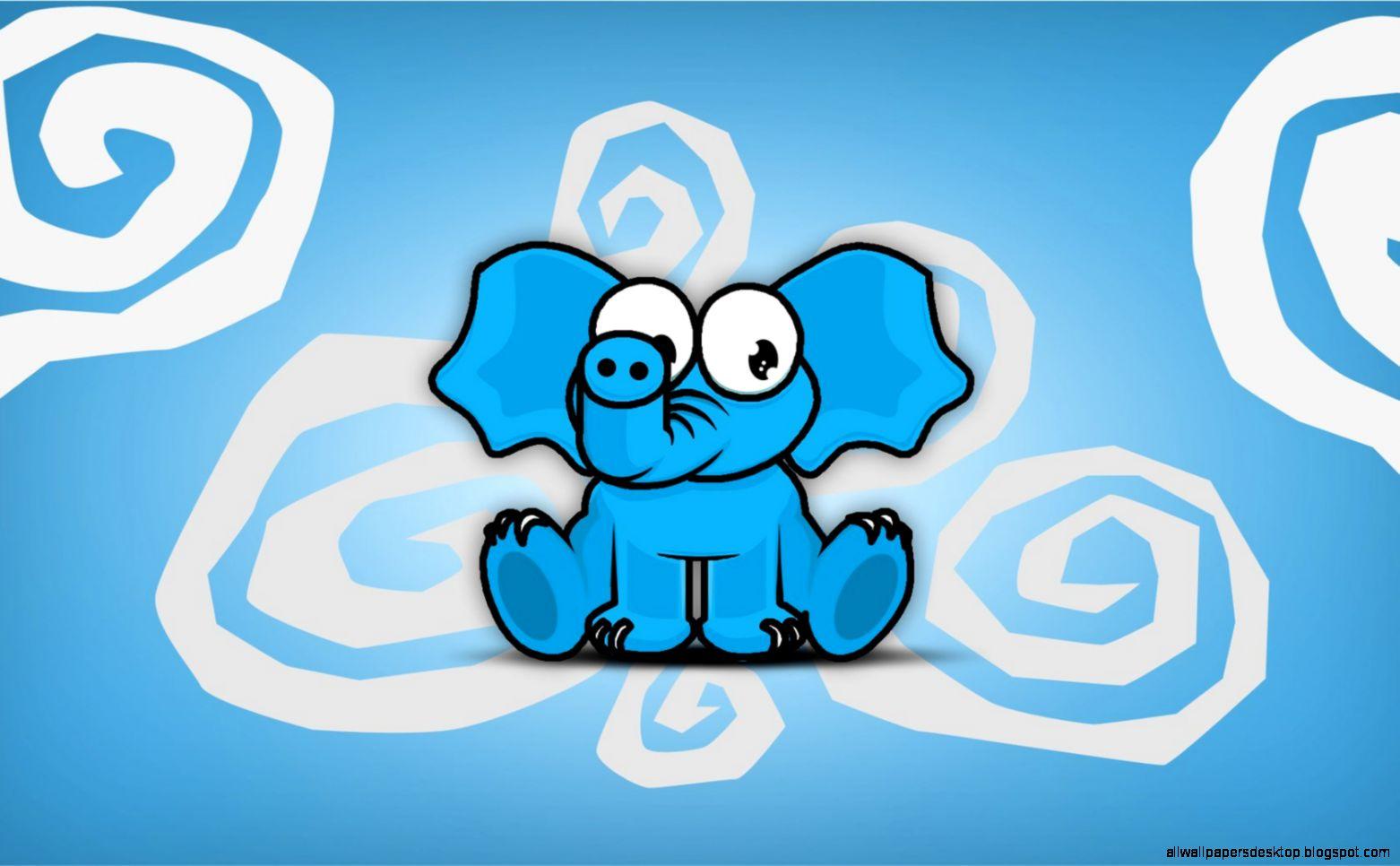 Download Wallpaper Cartoon Elephant - elephant-blue-cartoon-wallpaper-1680x1050-9226  Picture_503425  .jpg