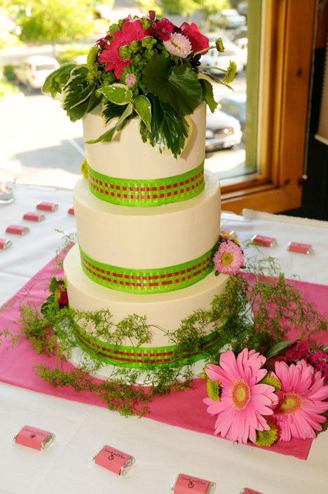 Baby Shower Wording: Real Party: Apple Green & Fuschia Wedding ...