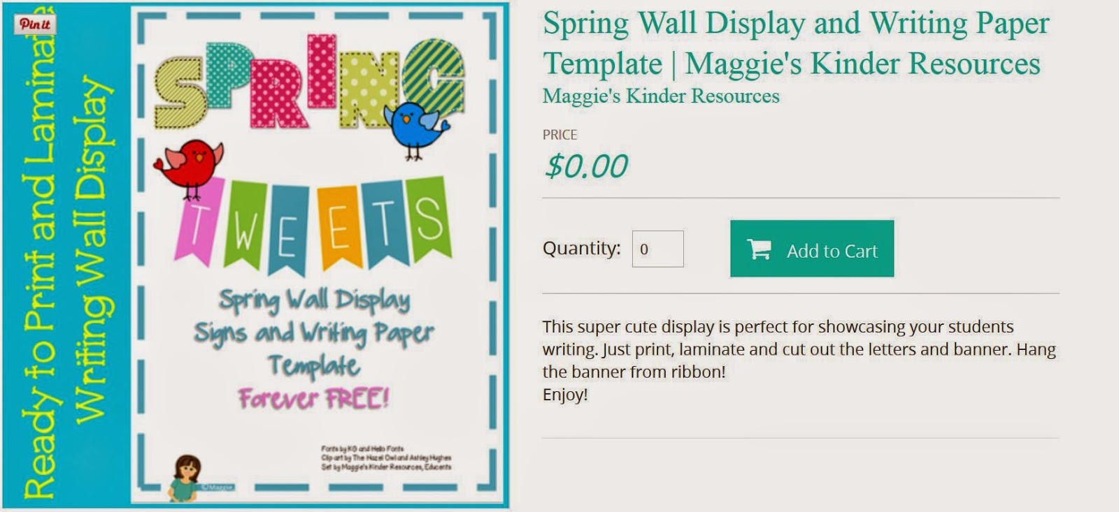 http://www.educents.com/spring-wall-display-and-writing-paper-template.html