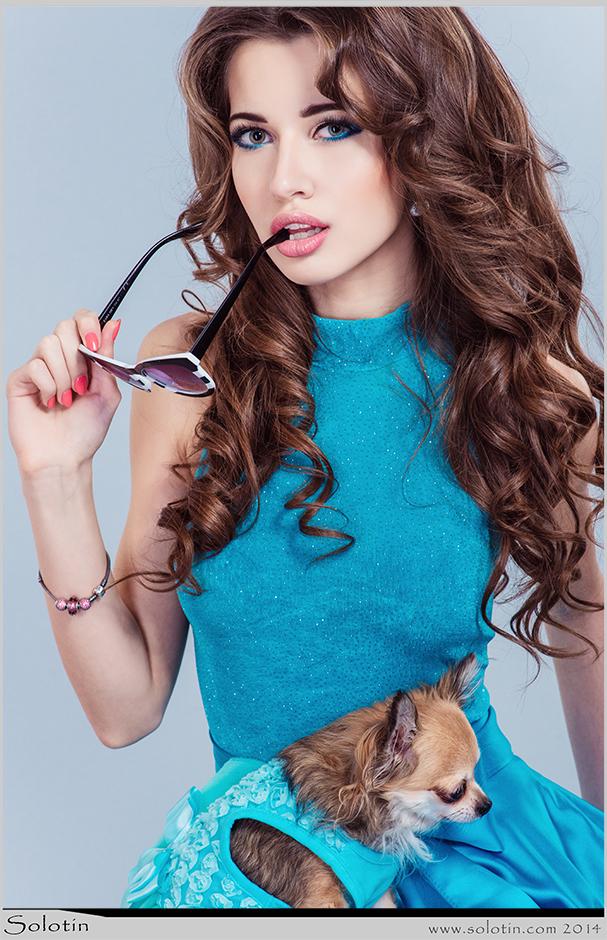 фотостудия, Мисс Тамбовская область, фотошкола, гламур, девушка, собачка, модель