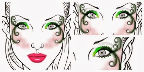 Maquillaje inspiración envidia mini plantilla