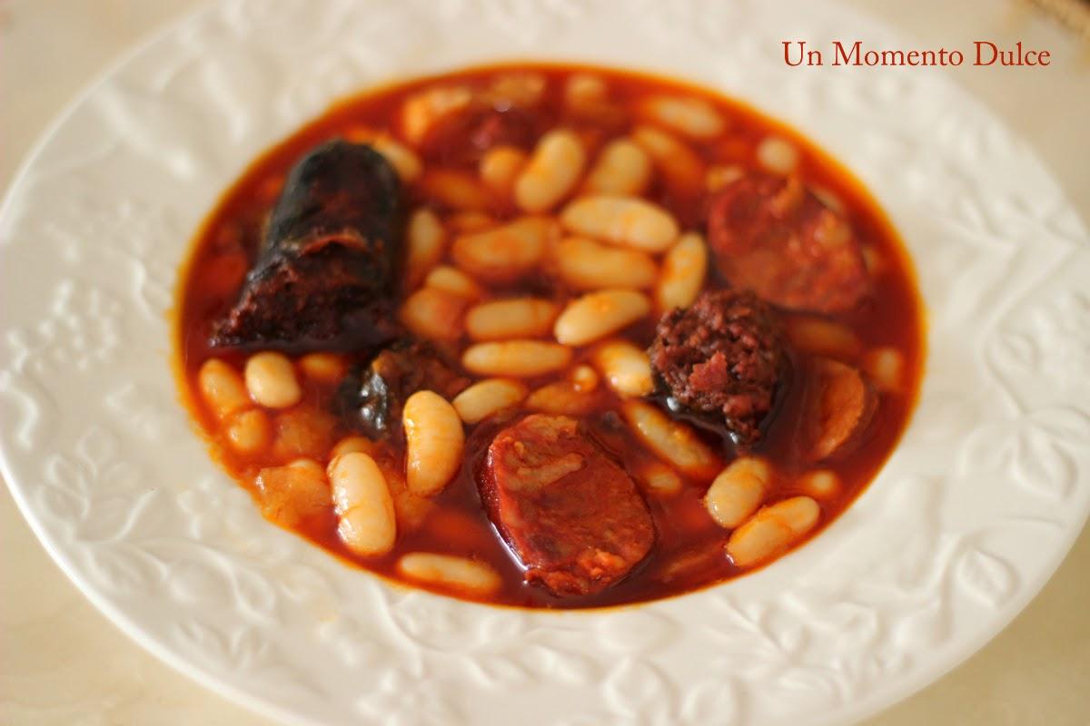 Un momento dulce fabada asturiana con habas tiernas for Como cocinar acelgas frescas
