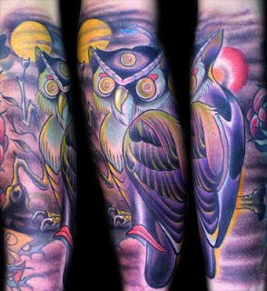 Hand Owl Tattoos