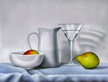 Bodegón con Frutas y Cristales