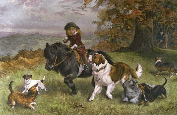 pintura de cachorros
