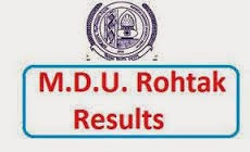 bsc 3rd year 5th semester result mdu haryana www.mdurohtak.ac.in