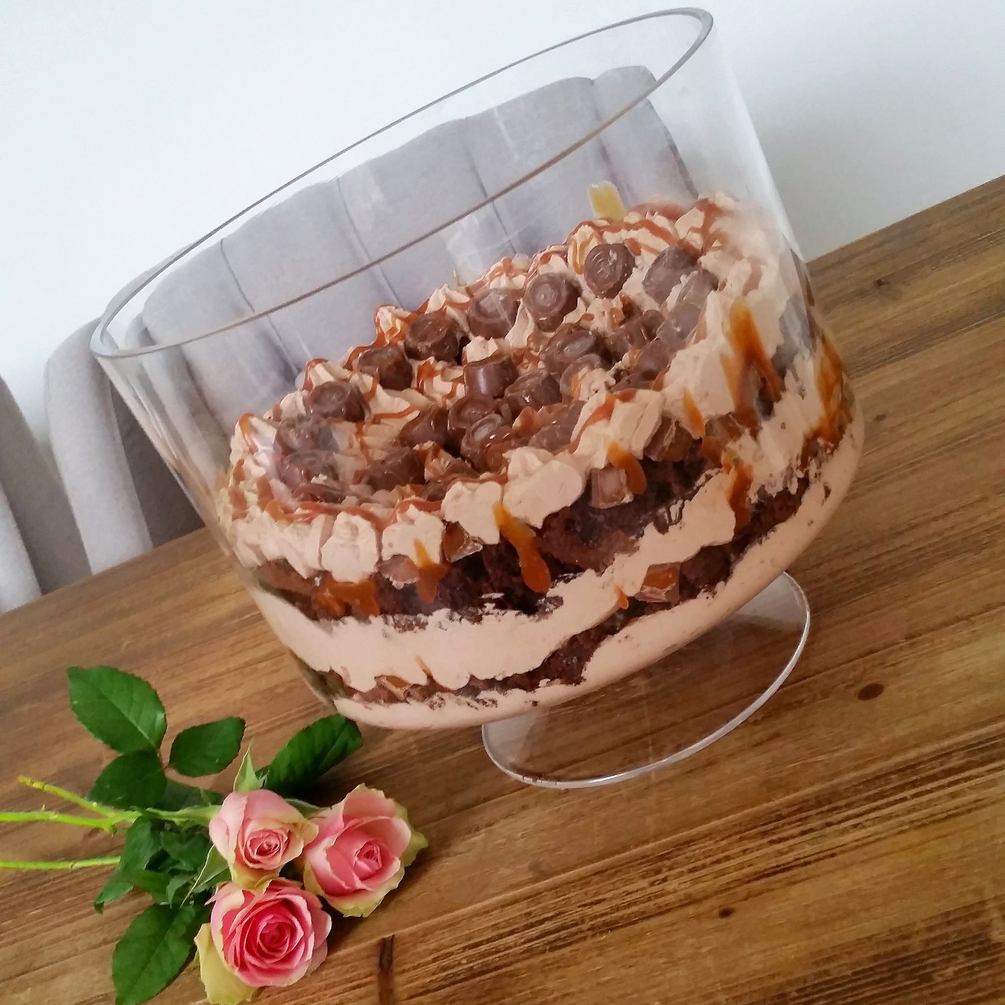 Recipe: Rolo Brownie Trifle With a Salted Caramel Sauce ...