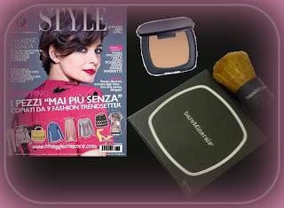 Tu Style & Bare Minerals - campione omaggio - fondotinta minerale compatto pennello kabuki - gratis - maggio 2013 inserto