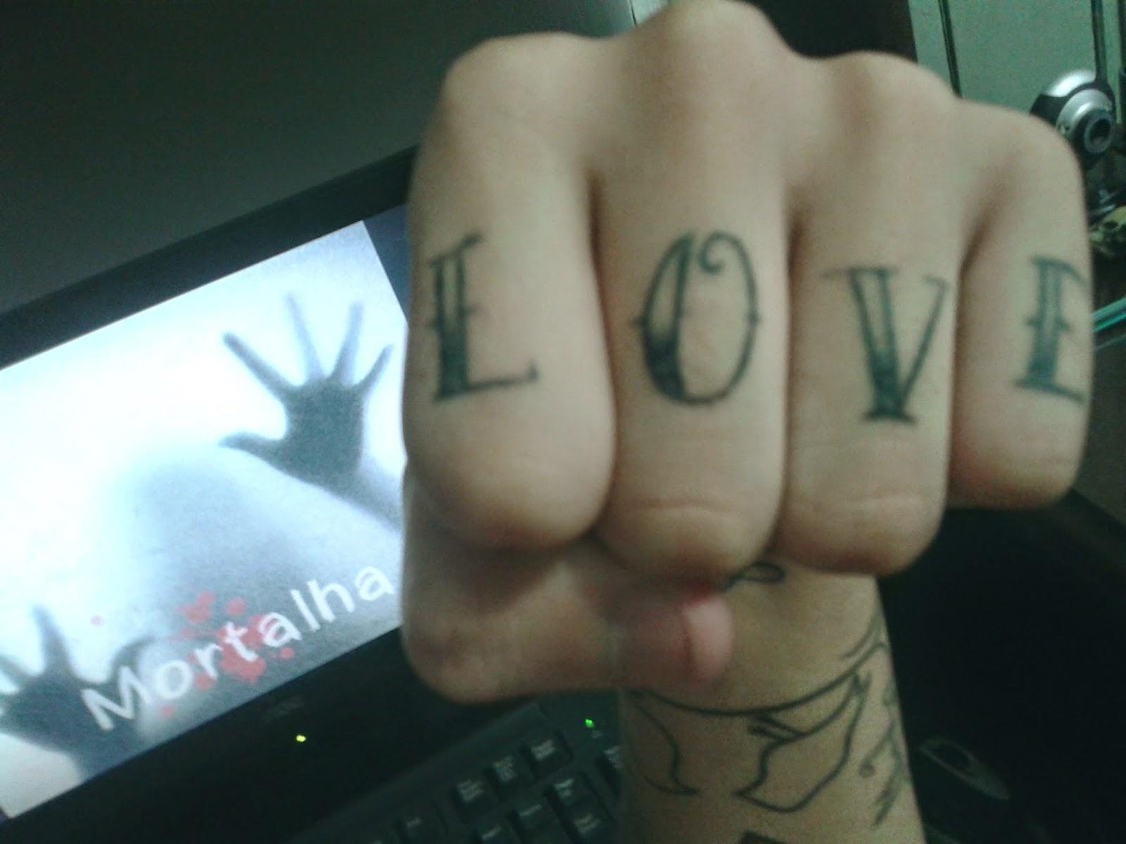 tatuagem, love, dedos