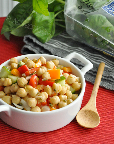 Marinated Chickpea + Pepper Salad