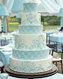 Aqua Blue Wedding Cakes