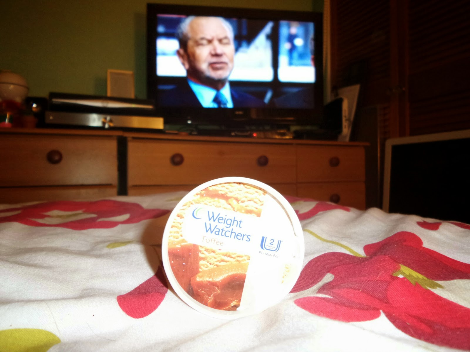 One of my Weight Watchers Iced Desserts being Eaten whilst watching Sir Alan on the Telly