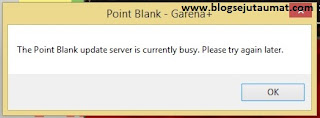 The Point Blank update server is currently busy. Please try again later