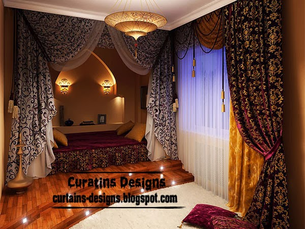 luxury curtain patterns for bedroom, curtain patterns
