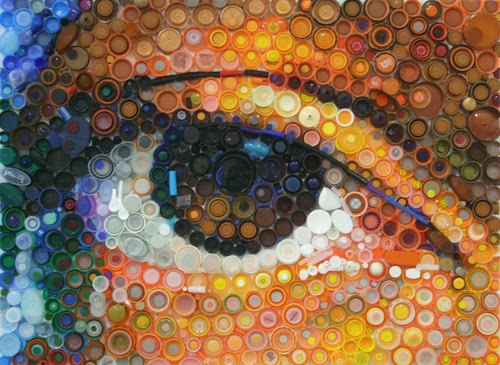 bottlecap mosaic art