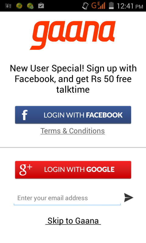 Download Gaana Android App and Get Rs 50 Paytm Coupon