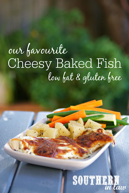 Our Favourite Healthy Cheesy Baked Fish Recipe - low fat, gluten free, high protein, healthy, egg free, clean eating, healthy dinner recipes, greek yogurt