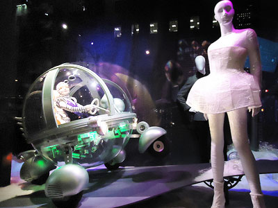 futuristic type of window display