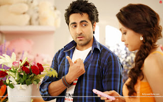 Hot Pooja Salvi, Ayushmann Khurrana Mera Mann Song Wallpaper
