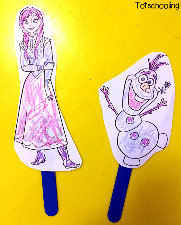 Ask Your Child To Come Up With A Story And Use The Puppets Act It Out Free Coloring