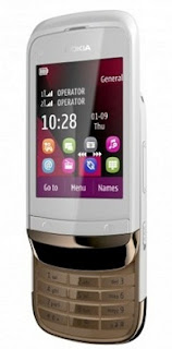 Nokia C2-02 Touch and Type Slider Mobile
