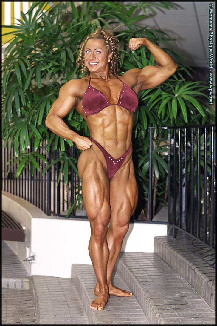 Heather Policky - Armbrust Flexing Her Massive Muscles