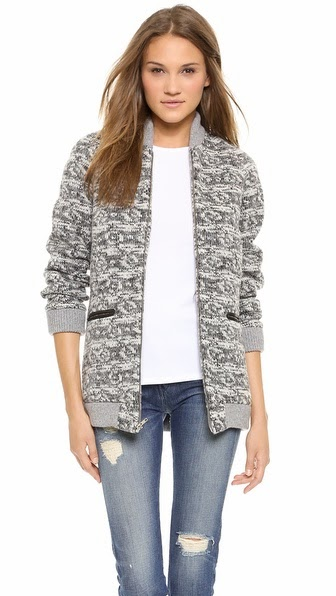 Thakoon Addition Tweed Front Pocket Jacket