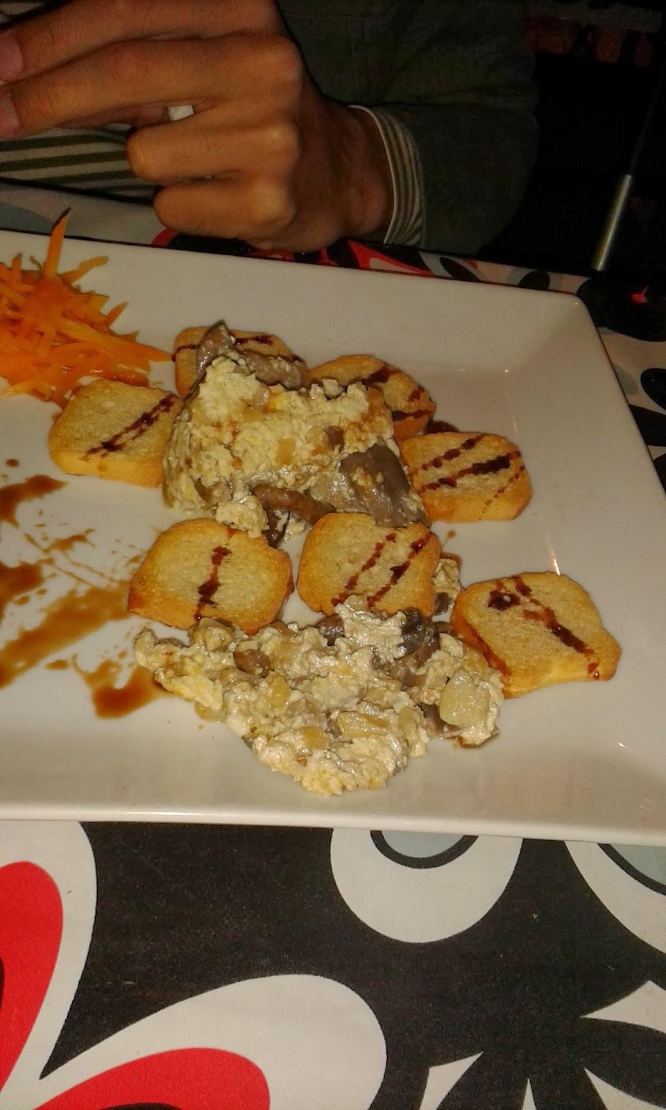 Revuelto de boletus. Restaurante Los Alcores