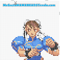 hama beads mini chun-li