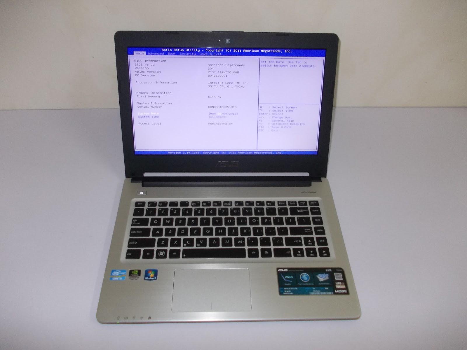 Used Laptop Asus K46C Core I5 Ultra Slim 99 Like NEW Still Under Warranty RM 1785