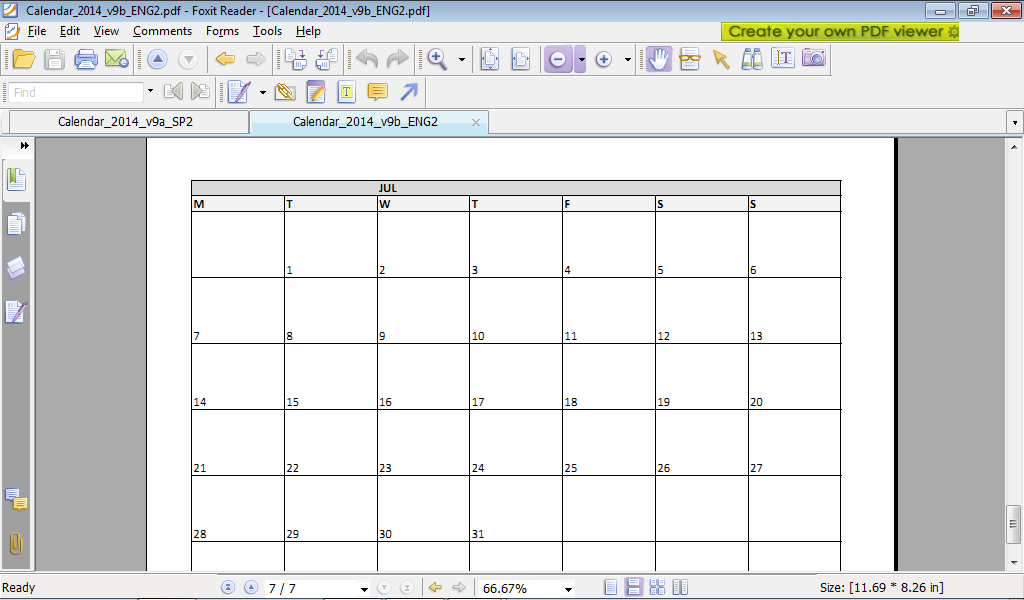 Excel examples for your work, sports and more.: Calendar 2014 v9 ...