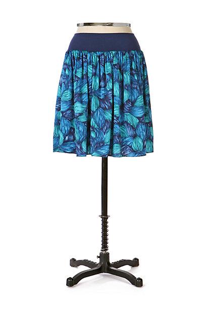 Anthropologie Silk Flowers Skirt