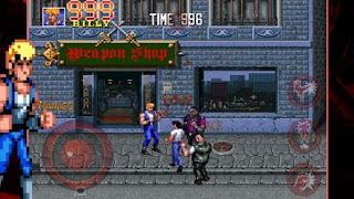 Screenshots of the Double dragon: Trilogy for Android tablet, phone.