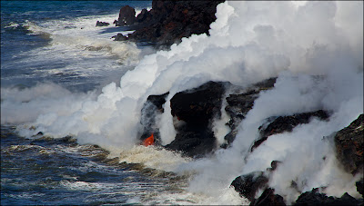 Pacific Ocean lava entry