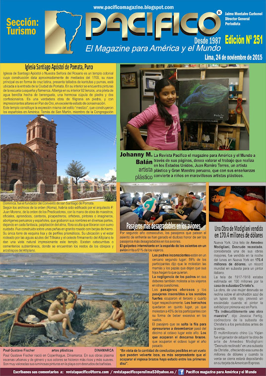 Revista Pacífico Nº 251 Turismo