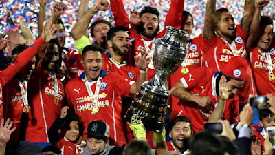 chile win copa america football