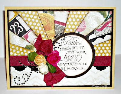Starburst card using MME papers, Quote Collection 3 from Our Daily Bread Designs, ODBD Antique Labels and Border Dies, Zva Creative Crystals/Roses