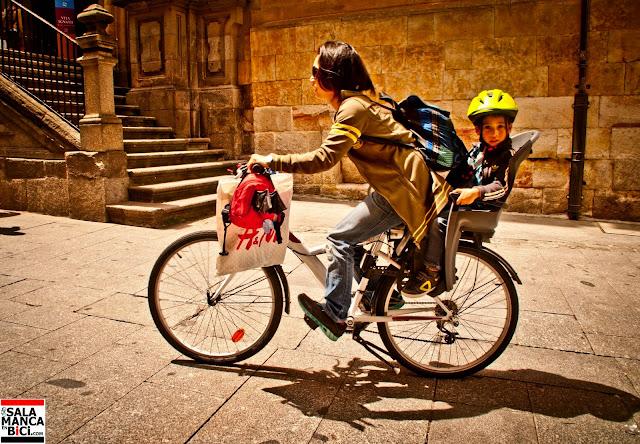 al cole en bici, carril bici , salamanca