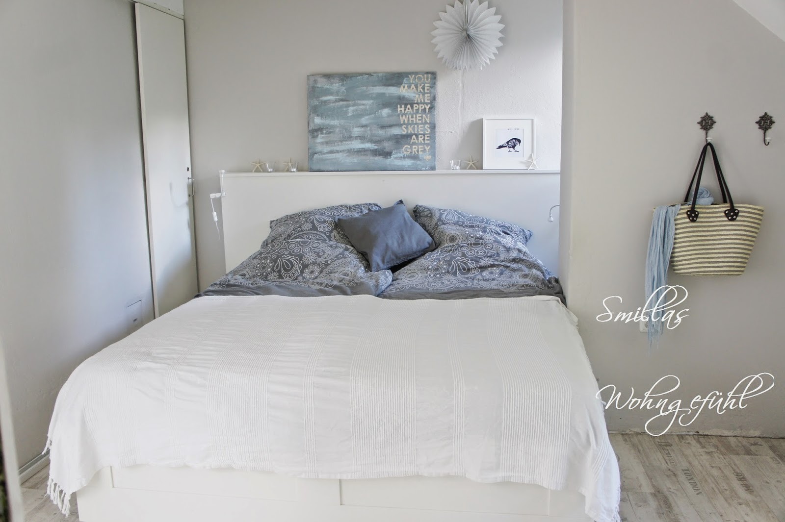 smillas wohngef hl schlafzimmerblick. Black Bedroom Furniture Sets. Home Design Ideas