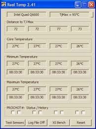 RealTemp Temperature Monitoring NoteBook