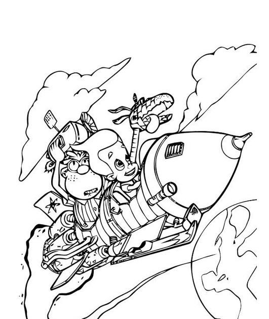 nicktoon coloring pages - photo#30