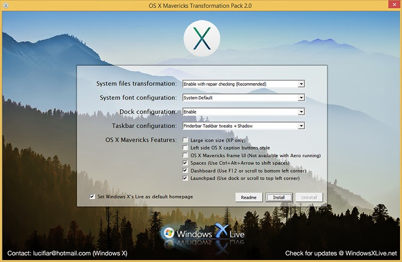 OS X Mavericks Transformation Pack 2.0