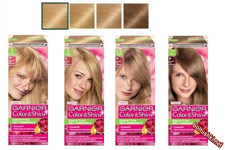 Палитра блонд безаммиачной краски Garnier Color Shine