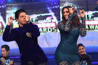 Shahrukh, Deepika & Vidya at Colors Screen Awards-2013