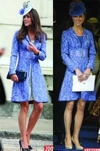 Kate Middleton in 2009 and 2011 - use the same dress
