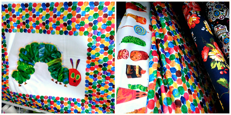 The Very Hungry Caterpillar fabric