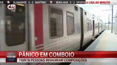 Gangue espalha terror e destroi comboio da CP em Alhos Vedros